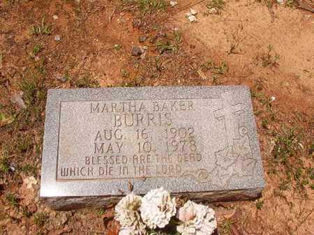 BAKER BURRIS, MARTHA - Columbia County, Arkansas | MARTHA BAKER BURRIS - Arkansas Gravestone Photos