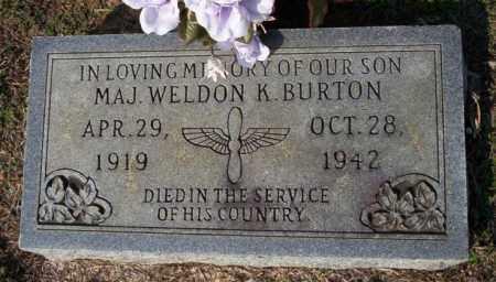 BURTON  (VETERAN), WELDON K - Columbia County, Arkansas   WELDON K BURTON  (VETERAN) - Arkansas Gravestone Photos