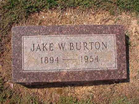 BURTON, JAKE W - Columbia County, Arkansas | JAKE W BURTON - Arkansas Gravestone Photos