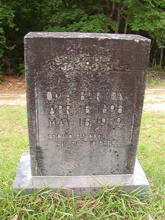 BURTON, OMA - Columbia County, Arkansas | OMA BURTON - Arkansas Gravestone Photos