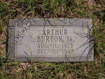 BURTON, SR, ARTHUR - Columbia County, Arkansas | ARTHUR BURTON, SR - Arkansas Gravestone Photos