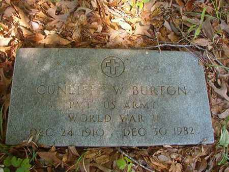 BURTON (VETERAN WWII), CUNLIFFE W - Columbia County, Arkansas | CUNLIFFE W BURTON (VETERAN WWII) - Arkansas Gravestone Photos