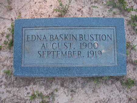 BASKIN BUSTION, EDNA - Columbia County, Arkansas | EDNA BASKIN BUSTION - Arkansas Gravestone Photos