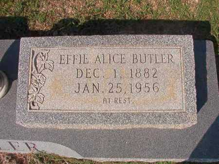 BUTLER, EFFIE ALICE - Columbia County, Arkansas | EFFIE ALICE BUTLER - Arkansas Gravestone Photos