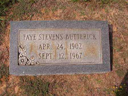 STEVENS BUTTERICK, FAYE - Columbia County, Arkansas | FAYE STEVENS BUTTERICK - Arkansas Gravestone Photos