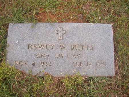 BUTTS (VETERAN), DEWEY W - Columbia County, Arkansas   DEWEY W BUTTS (VETERAN) - Arkansas Gravestone Photos