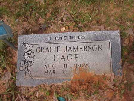JAMERSON CAGE, GRACIE - Columbia County, Arkansas | GRACIE JAMERSON CAGE - Arkansas Gravestone Photos