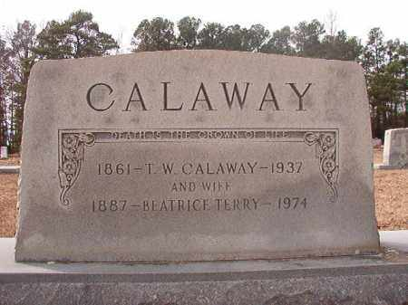 CALAWAY, T W - Columbia County, Arkansas | T W CALAWAY - Arkansas Gravestone Photos