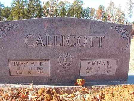CALLICOTT, VIRGINIA H - Columbia County, Arkansas | VIRGINIA H CALLICOTT - Arkansas Gravestone Photos