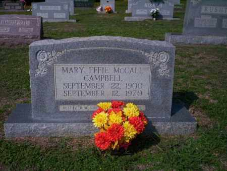 MCCALL CAMPBELL, MARY EFFIE - Columbia County, Arkansas | MARY EFFIE MCCALL CAMPBELL - Arkansas Gravestone Photos