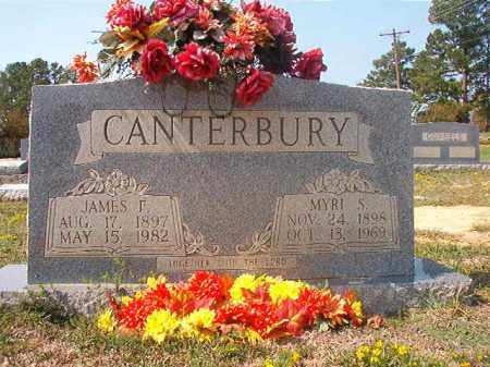 CANTERBURY, JAMES F - Columbia County, Arkansas | JAMES F CANTERBURY - Arkansas Gravestone Photos
