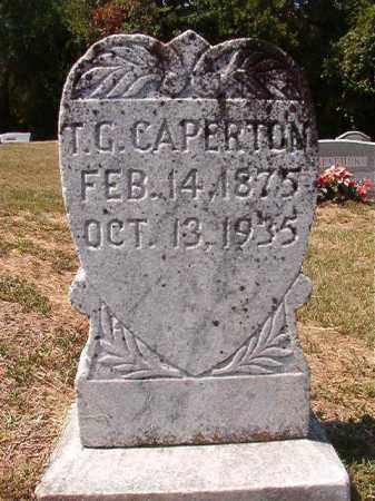 CAPERTON, T G - Columbia County, Arkansas | T G CAPERTON - Arkansas Gravestone Photos