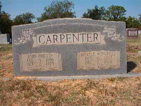 WINGDFIELD CARPENTER, MYRTLE - Columbia County, Arkansas | MYRTLE WINGDFIELD CARPENTER - Arkansas Gravestone Photos