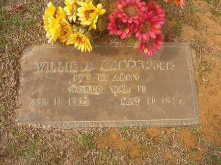 CARPENTER (VETERAN WWII), WILLIE B - Columbia County, Arkansas | WILLIE B CARPENTER (VETERAN WWII) - Arkansas Gravestone Photos