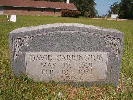 CARRINGTON, DAVID - Columbia County, Arkansas | DAVID CARRINGTON - Arkansas Gravestone Photos