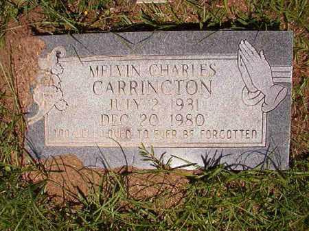 CARRINGTON, MELVIN CHARLES - Columbia County, Arkansas | MELVIN CHARLES CARRINGTON - Arkansas Gravestone Photos