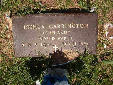 CARRINGTON (VETERAN WWII), JOSHUA - Columbia County, Arkansas | JOSHUA CARRINGTON (VETERAN WWII) - Arkansas Gravestone Photos