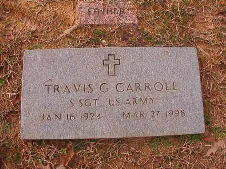 CARROLL (VETERAN), TRAVIS G - Columbia County, Arkansas | TRAVIS G CARROLL (VETERAN) - Arkansas Gravestone Photos