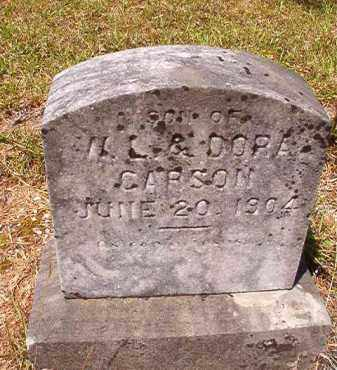 CARSON, INFANT SON - Columbia County, Arkansas | INFANT SON CARSON - Arkansas Gravestone Photos