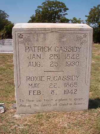 CASSIDY, PATRICK - Columbia County, Arkansas | PATRICK CASSIDY - Arkansas Gravestone Photos