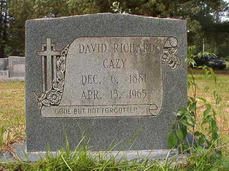 CAZY, DAVID RICHARD - Columbia County, Arkansas | DAVID RICHARD CAZY - Arkansas Gravestone Photos