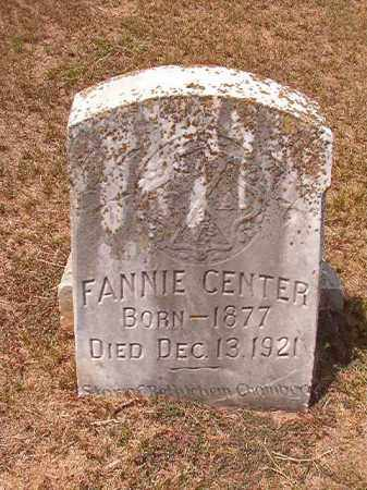 CENTER, FANNIE - Columbia County, Arkansas | FANNIE CENTER - Arkansas Gravestone Photos