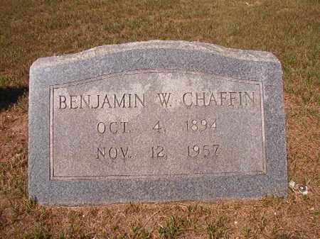 CHAFFIN, BENJAMIN W - Columbia County, Arkansas | BENJAMIN W CHAFFIN - Arkansas Gravestone Photos