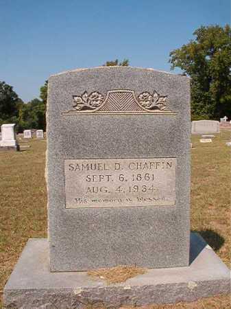 CHAFFIN, SAMUEL D - Columbia County, Arkansas | SAMUEL D CHAFFIN - Arkansas Gravestone Photos