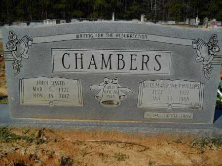 PHILLIPS CHAMBERS, LOIS MAURINE - Columbia County, Arkansas | LOIS MAURINE PHILLIPS CHAMBERS - Arkansas Gravestone Photos