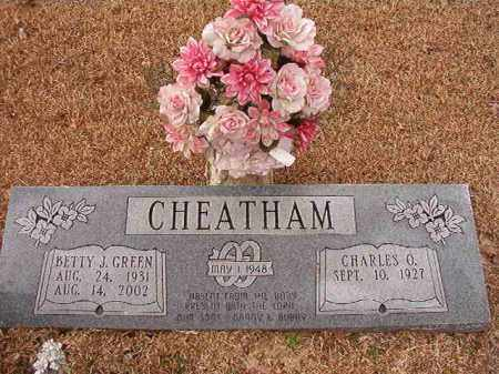 GREEN CHEATHAM, BETTY J - Columbia County, Arkansas | BETTY J GREEN CHEATHAM - Arkansas Gravestone Photos