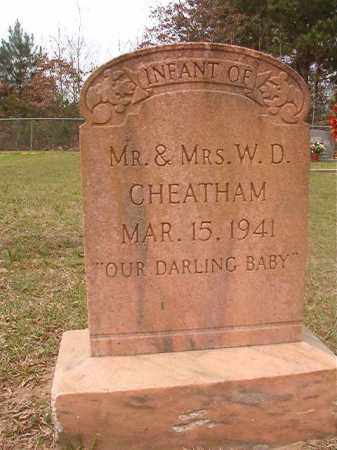 CHEATHAM, INFANT - Columbia County, Arkansas | INFANT CHEATHAM - Arkansas Gravestone Photos