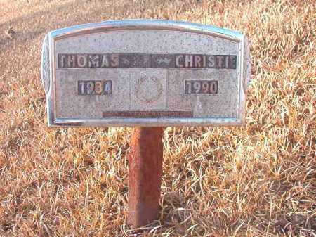 CHRISTIE, THOMAS - Columbia County, Arkansas | THOMAS CHRISTIE - Arkansas Gravestone Photos