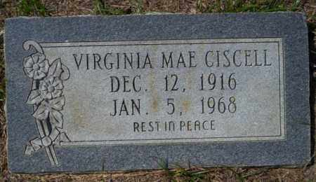 CISCELL, VIRGINIA MAE - Columbia County, Arkansas | VIRGINIA MAE CISCELL - Arkansas Gravestone Photos
