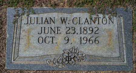 CLANTON, JULIAN W - Columbia County, Arkansas | JULIAN W CLANTON - Arkansas Gravestone Photos