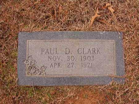 CLARK, PAUL D - Columbia County, Arkansas | PAUL D CLARK - Arkansas Gravestone Photos