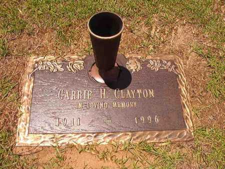CLAYTON, CARRIE H - Columbia County, Arkansas | CARRIE H CLAYTON - Arkansas Gravestone Photos
