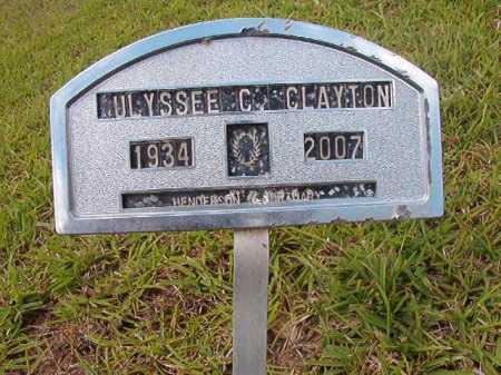 CLAYTON, ULYSEE C - Columbia County, Arkansas | ULYSEE C CLAYTON - Arkansas Gravestone Photos