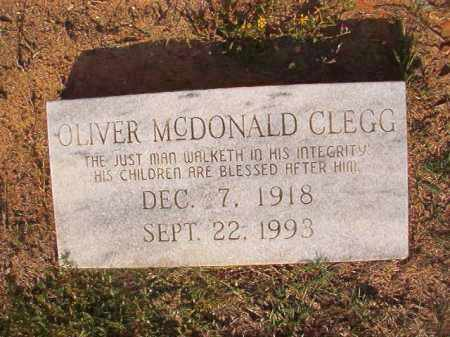 CLEGG, OLIVER MCDONALD - Columbia County, Arkansas | OLIVER MCDONALD CLEGG - Arkansas Gravestone Photos