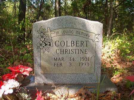 COLBERT, CHRISTINE - Columbia County, Arkansas   CHRISTINE COLBERT - Arkansas Gravestone Photos
