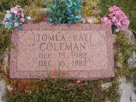 COLEMAN, TOMLA-RAE - Columbia County, Arkansas | TOMLA-RAE COLEMAN - Arkansas Gravestone Photos