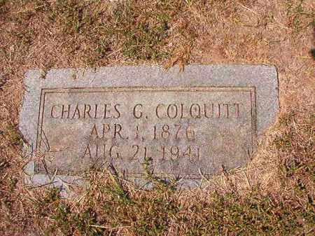 COLQUITT, CHARLES G - Columbia County, Arkansas | CHARLES G COLQUITT - Arkansas Gravestone Photos