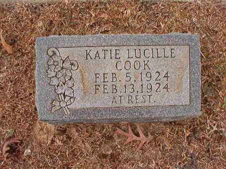 COOK, KATIE LUCILLE - Columbia County, Arkansas | KATIE LUCILLE COOK - Arkansas Gravestone Photos
