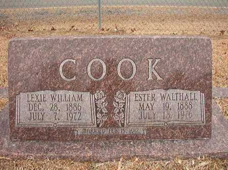 COOK, LEXIE WILLIAM - Columbia County, Arkansas | LEXIE WILLIAM COOK - Arkansas Gravestone Photos