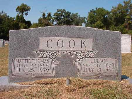 COOK, JULIAN - Columbia County, Arkansas | JULIAN COOK - Arkansas Gravestone Photos
