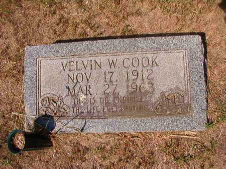 COOK, VELVIN W - Columbia County, Arkansas | VELVIN W COOK - Arkansas Gravestone Photos