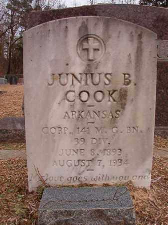 COOK (VETERAN), JUNIUS B - Columbia County, Arkansas | JUNIUS B COOK (VETERAN) - Arkansas Gravestone Photos
