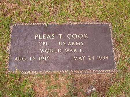 COOK (VETERAN WWII), PLEAS T - Columbia County, Arkansas | PLEAS T COOK (VETERAN WWII) - Arkansas Gravestone Photos