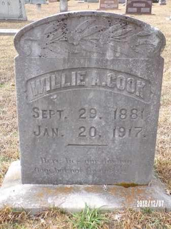 COOK, WILLIE A - Columbia County, Arkansas | WILLIE A COOK - Arkansas Gravestone Photos