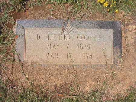 COOPER, D LUTHER - Columbia County, Arkansas | D LUTHER COOPER - Arkansas Gravestone Photos