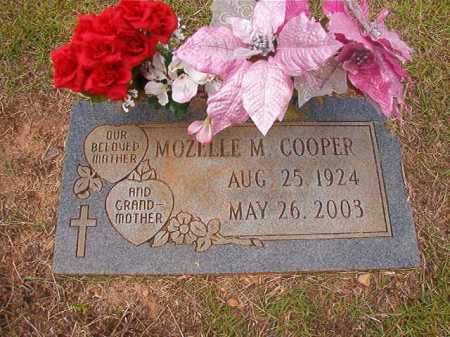 COOPER, MOZELLE M - Columbia County, Arkansas | MOZELLE M COOPER - Arkansas Gravestone Photos